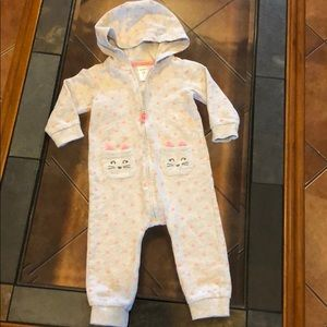 Other - 2 For $20 Carters Zip Up Romper with Hoodie